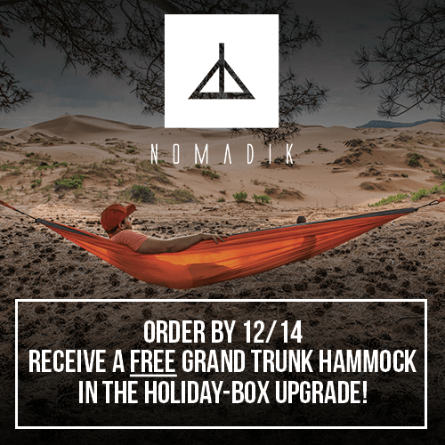EXTENDED The Nomadik Cyber Monday Deal: Save 15% Off + Get a Grand Trunk Hammock FREE!
