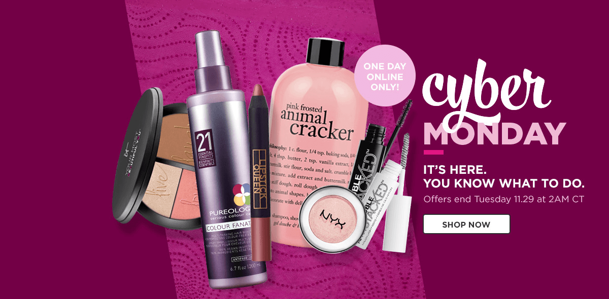 Ulta Cyber Monday Deals Available Now + Free Beauty Bag + $10 Off Coupon!