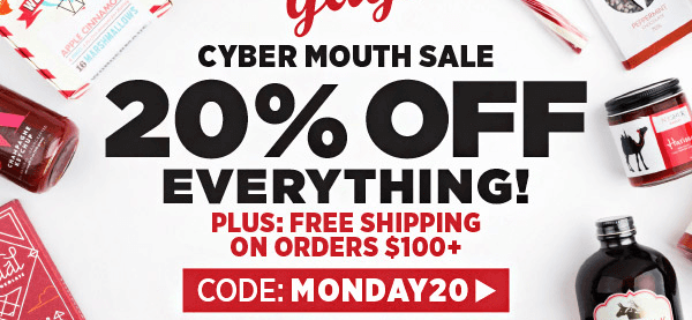 Mouth.com Cyber Monday Sale – 20% Off Monthly Boxes + Everything In Shop!