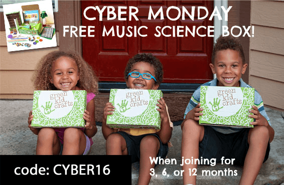 Green Kid Crafts Cyber Monday 2016 Deal: Free Box with Subscription!