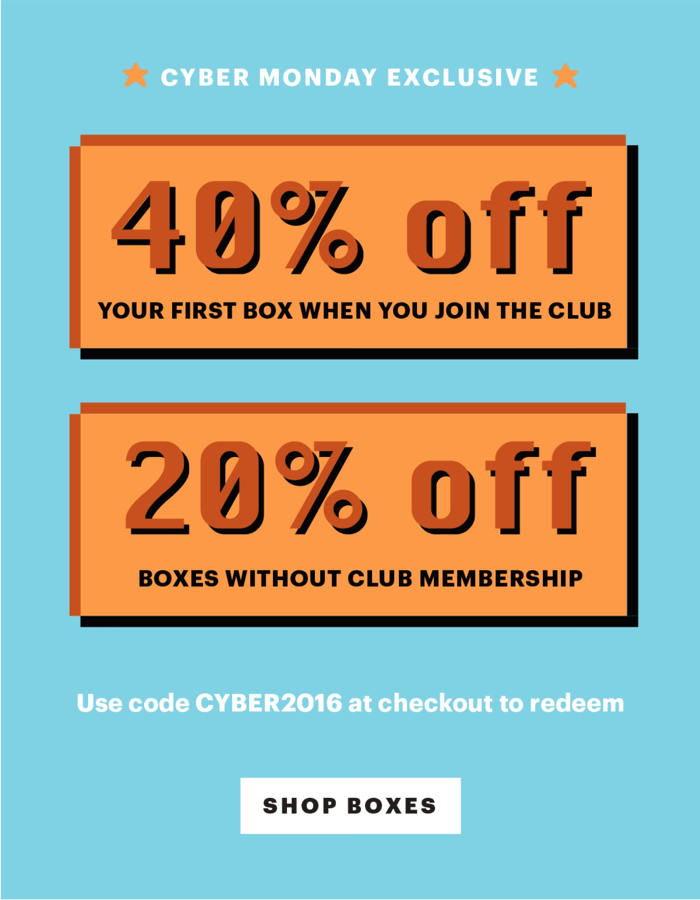 EXTENDED! Bespoke Post Cyber Monday Deal: 40% Off First Box!