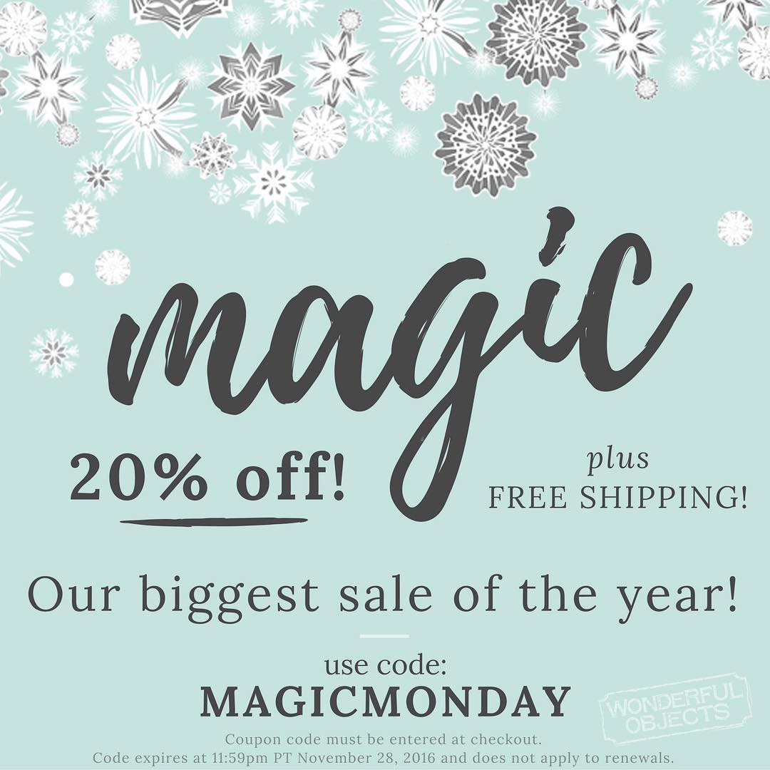 Wonderful Objects by Wonder & Co Cyber Monday Deal: 20% Off All Subscriptions!