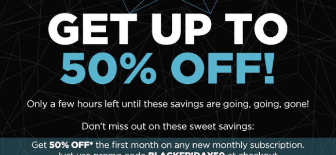 ENDS TONIGHT! Nerd Block Deal: 50% Off First Month ANY BLOCK + 50% Past Blocks!