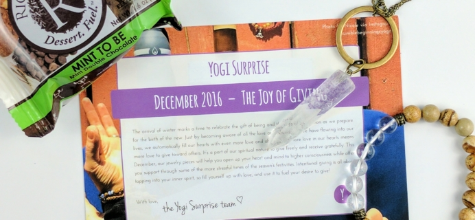 Yogi Surprise Jewelry Box December 2016 Subscription Review