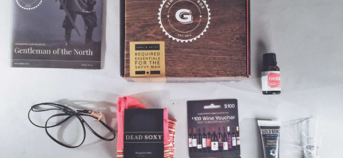 The Gentleman's Box Review & Coupon – November 2016