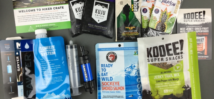 Hiker Crate December 2016 Subscription Box Review