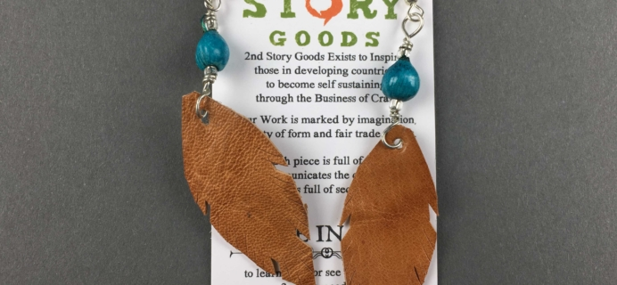 Fair Trade Friday Earring of the Month December 2016 Subscription Box Review