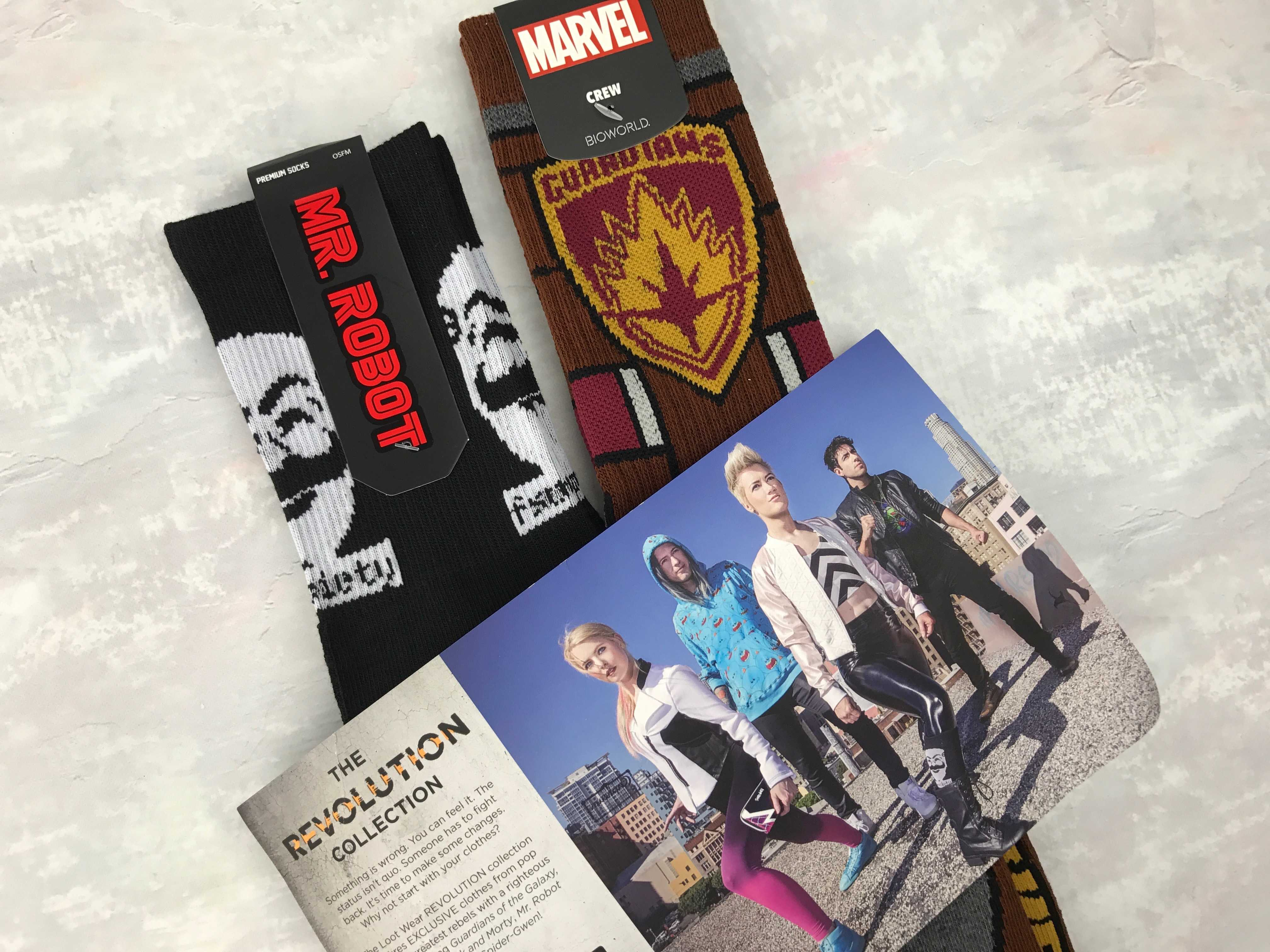 Loot Socks by Loot Crate December 2016 Subscription Box Review & Coupon