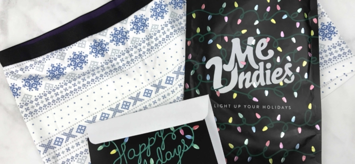 MeUndies December 2016 Subscription Review & Coupon