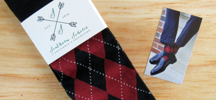 Southern Scholar Men's Sock Subscription Box Review & Coupon – December 2016