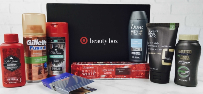 Target Beauty Box for Men December 2016 Review