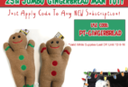 Pet Treater Coupon: Free Gingerbread Man Dog Toy With Subscription!
