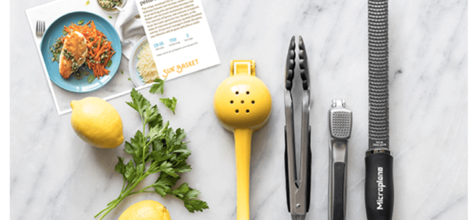 Sun Basket Deal: Free Williams-Sonoma Kitchen Essentials Box with 4 Week Subscription!