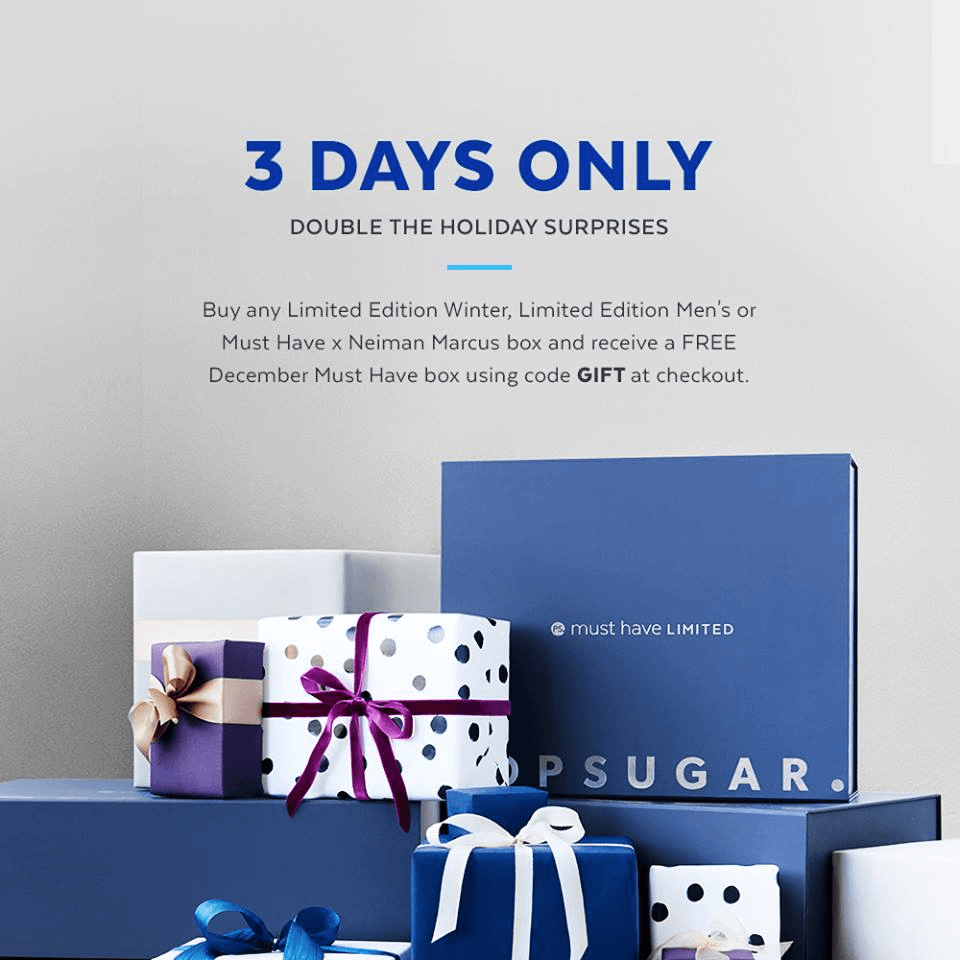 Free December 2016 POPSUGAR Must Have Box with Limited Edition Box Purchase!