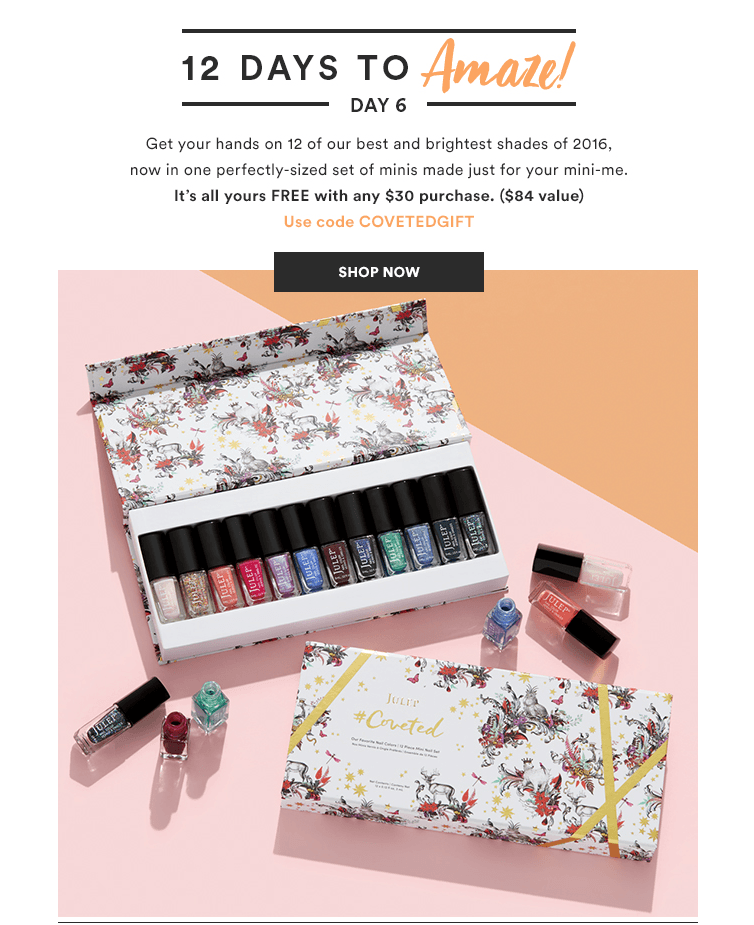Julep 12 Days of Yay – FREE 12 Piece Mini Polish Gift Set with ...