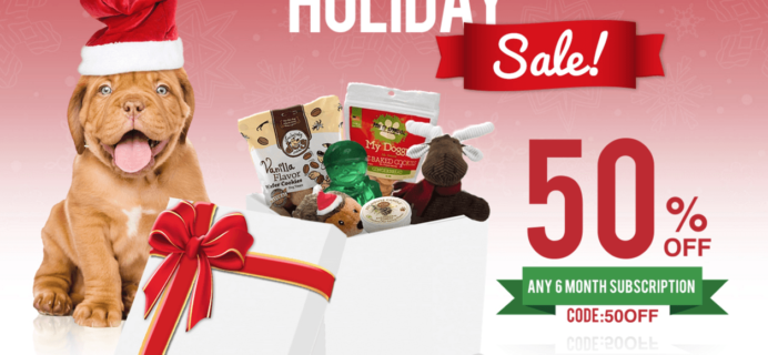 Pooch Perks Holiday Sale: Save 50% Off 6 Month Subscriptions!