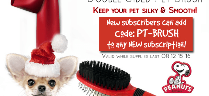 Pet Treater Coupon: Free Pet Brush With Subscription!