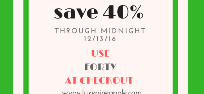 LuxePineapple Home Box Flash Sale: 40% Off Today Only!