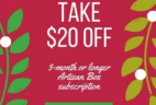 GlobeIn Artisan Gift Box Coupon: $20 Off 3-Month Subscription