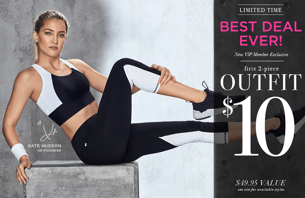 EXTENDED Fabletics Best Deal EVER: First Workout Outfit $10!