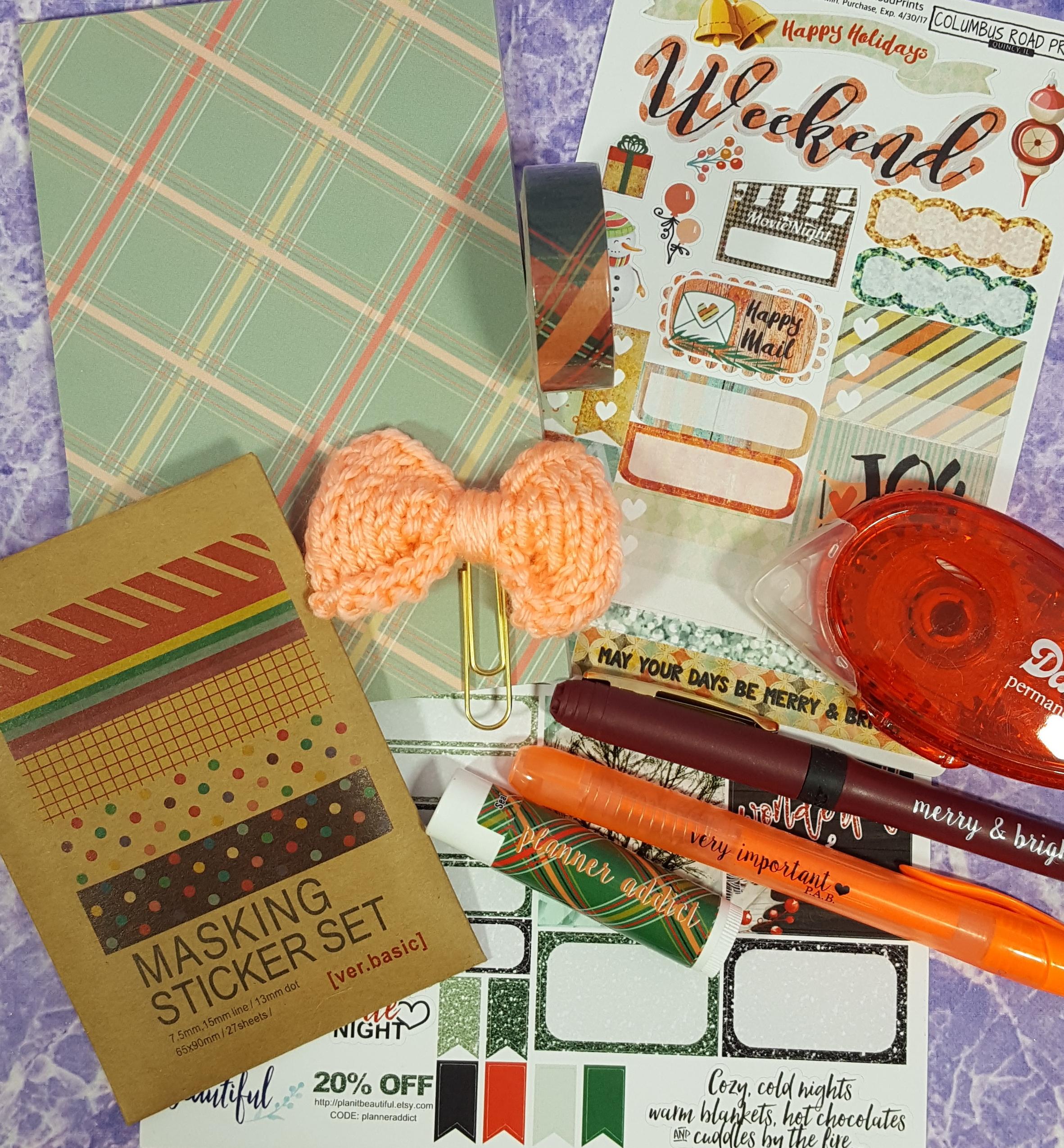 The Planner Addict Box December 2016 Subscription Box Review