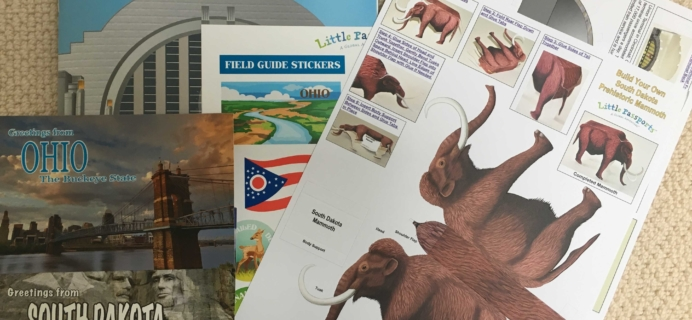 Little Passports USA November 2016 Subscription Box Review + Coupon – Ohio & South Dakota