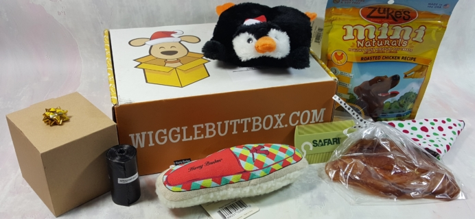 Wigglebutt Box Dog Subscription Box Review – December 2016