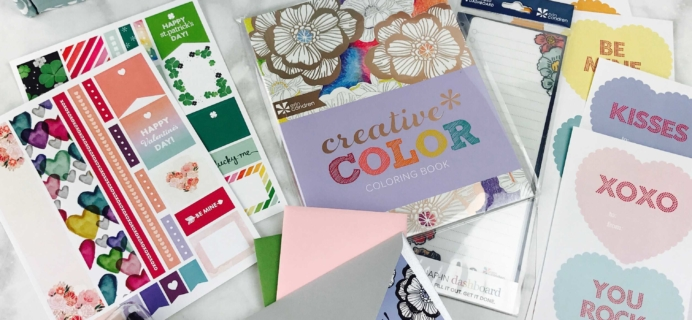 Erin Condren Seasonal Surprise Box Winter 2016 Subscription Box Review