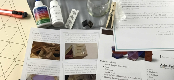 Adults + Crafts Subscription Box Review + Coupon – January 2017