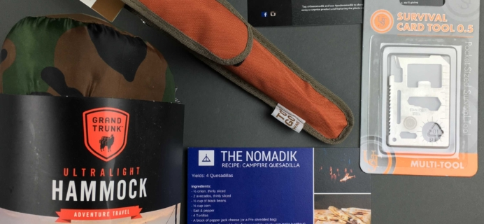 Nomadik December 2016 Subscription Box Review + Coupon