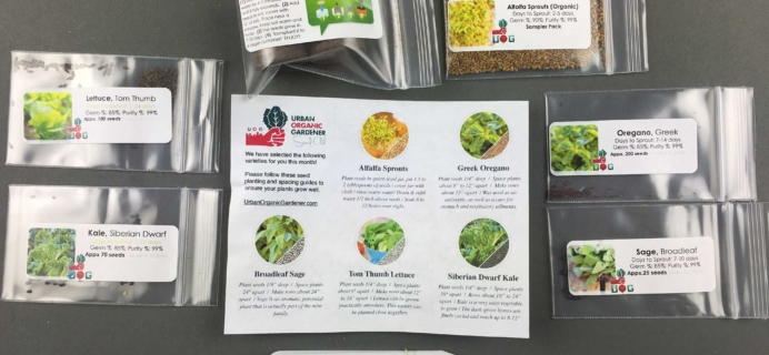 Urban Organic Gardener January 2017 Subscription Box Review + Coupon