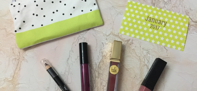 Lip Monthly January 2017 Subscription Box Review & Coupon