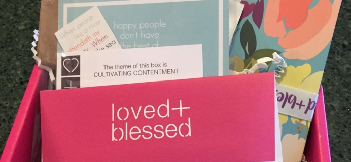 Loved+Blessed January 2017 Subscription Box Review + Coupon!