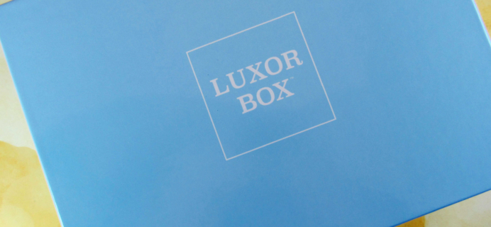 Luxor Box Subscription Box Review – January 2017
