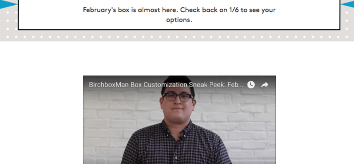 February 2017 Birchbox Man Sample Choice Spoilers & Coupon
