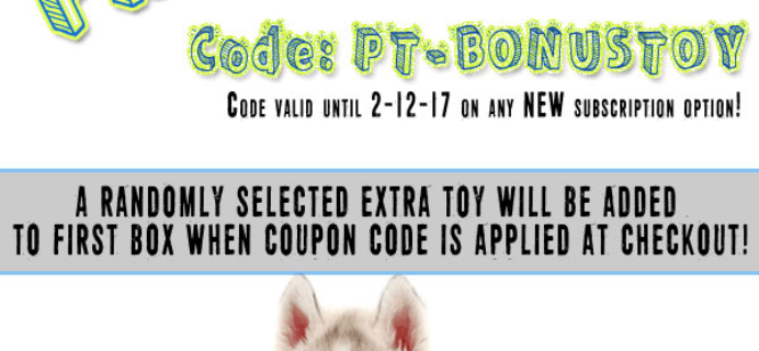 Pet Treater Coupon: Free Bonus Dog Toy With Subscription!