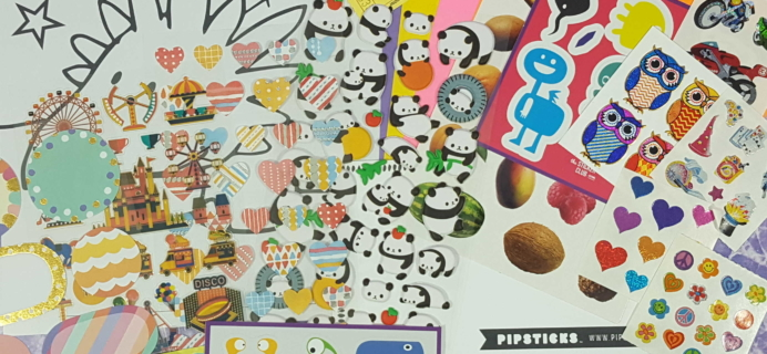 Pipsticks January 2017 Kids Club Sticker Subscription Review & Coupon