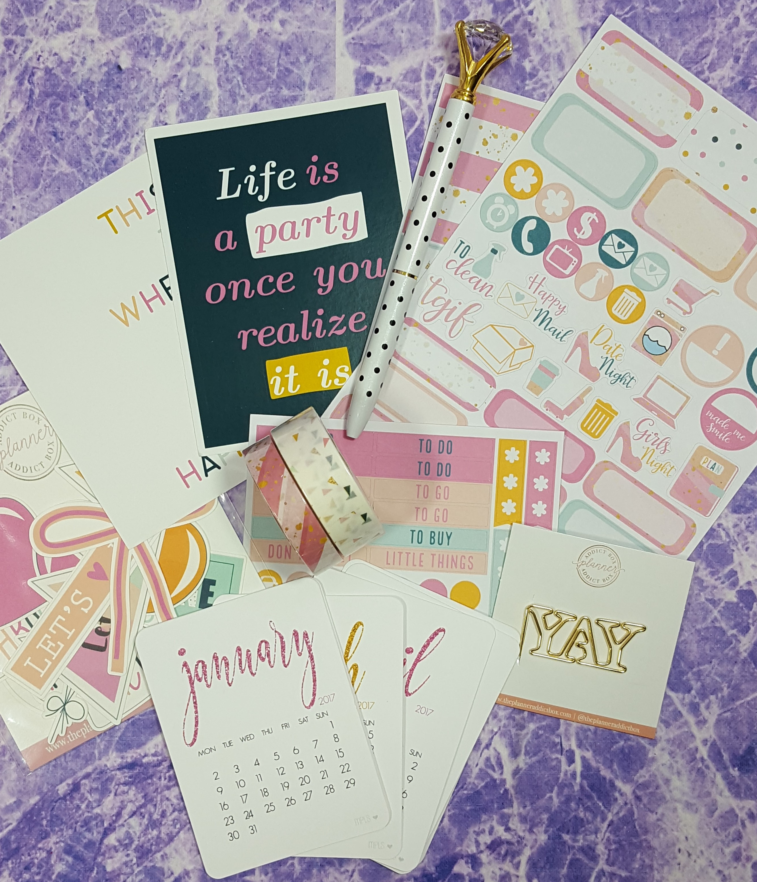 The Planner Addict Box January 2017 Subscription Box Review