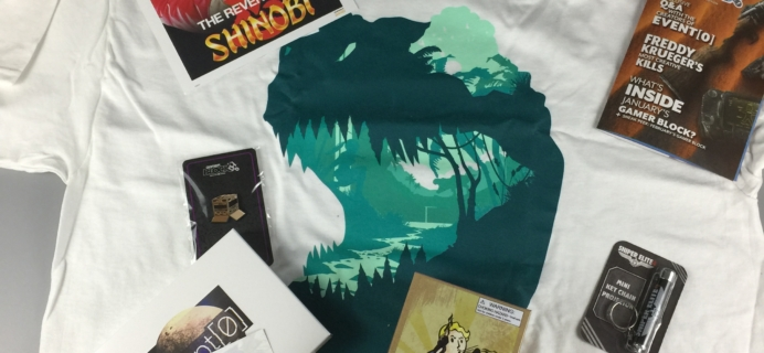 Gamer Block: M for Mature January 2017 Subscription Box Review + Coupon