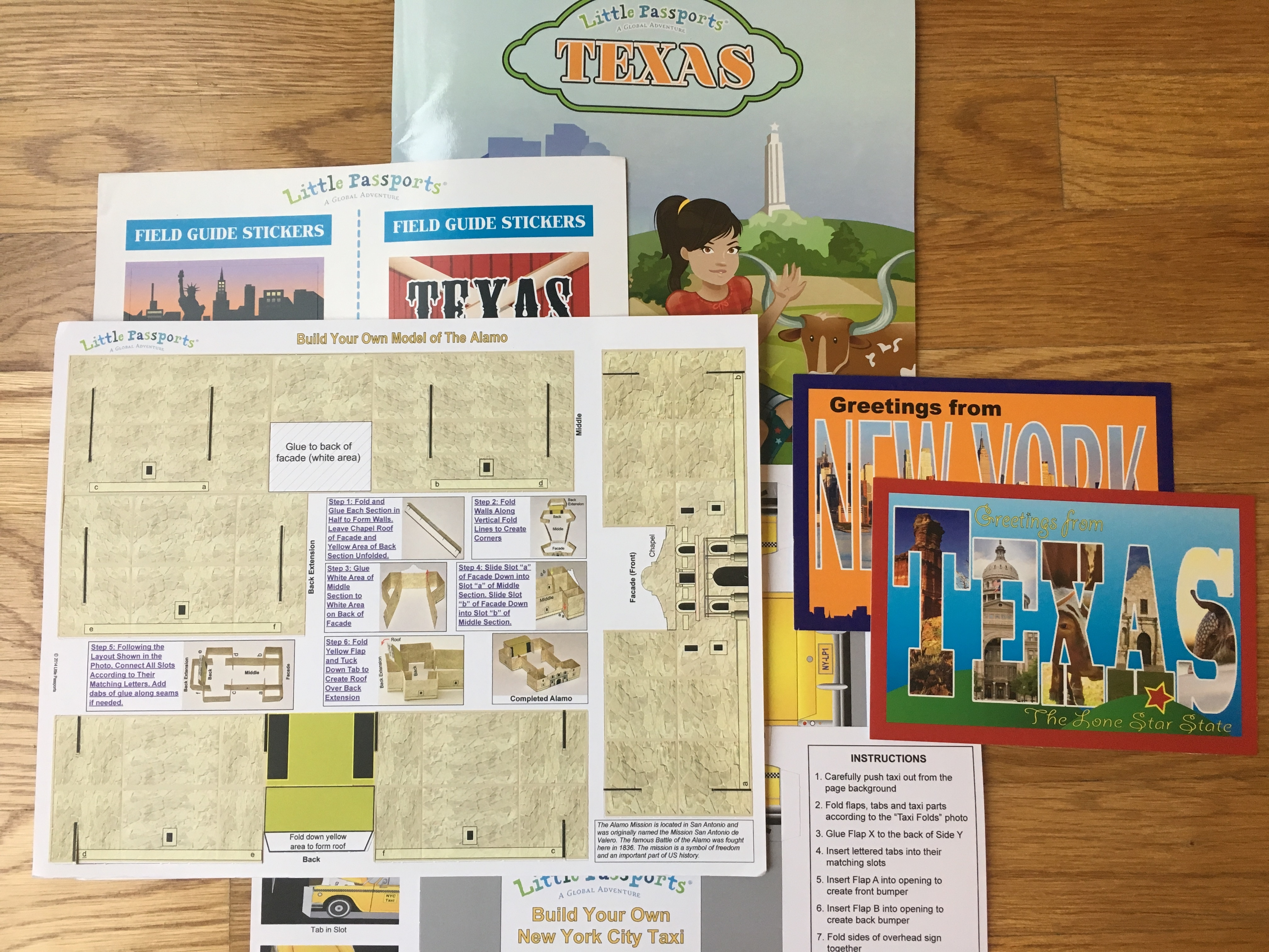 Little Passports USA February 2017 Subscription Box Review + Coupon – Texas & New York