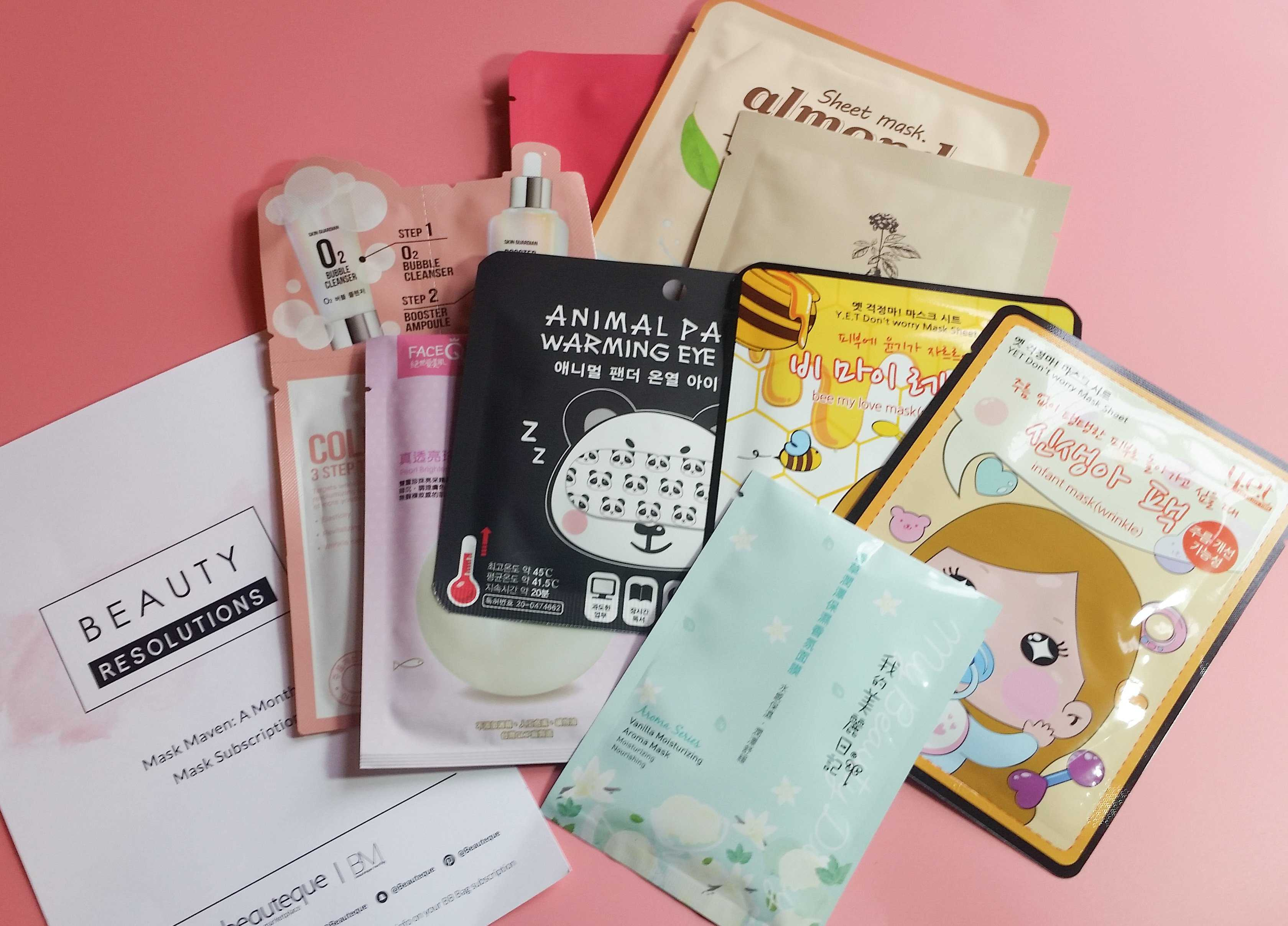 Beauteque Mask Maven January 2017 Subscription Box Review + Coupon