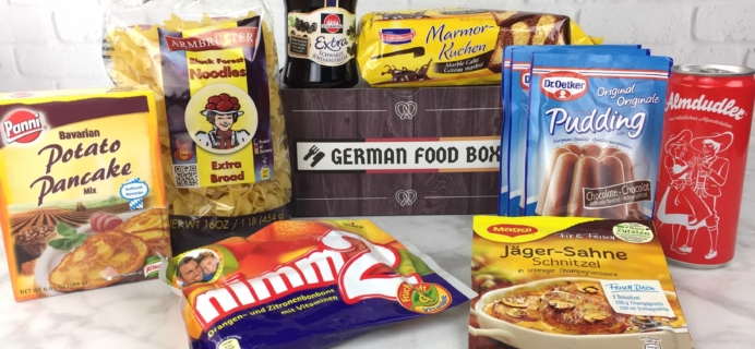 German Food Box February 2017 Subscription Box Review