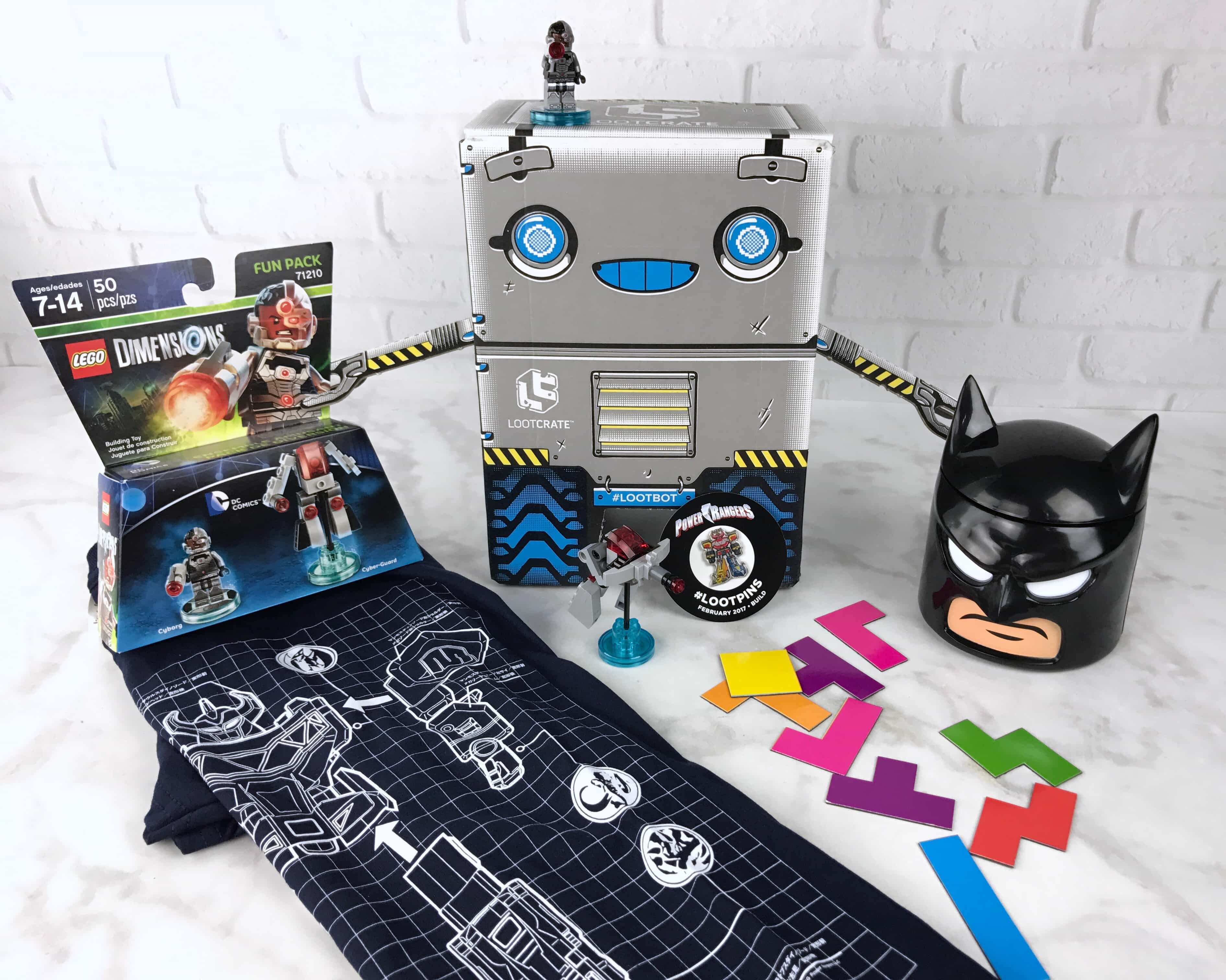 Loot Crate February 2017 Review + Coupons – BUILD!