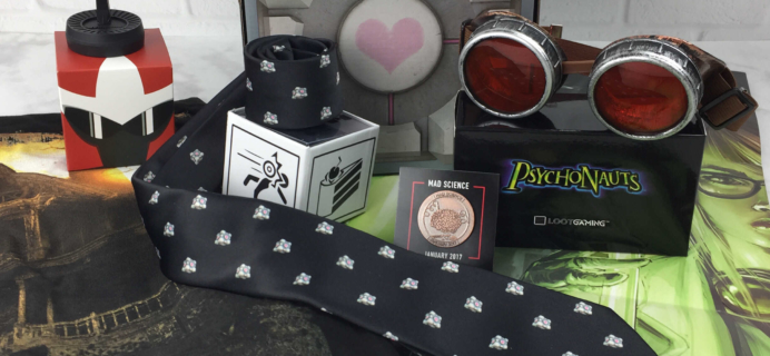 Loot Gaming January 2017 Subscription Box Review & Coupon – MAD SCIENCE