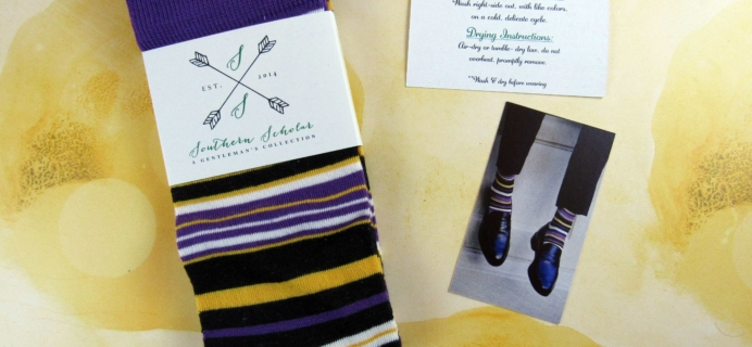 Southern Scholar Men's Sock Subscription Box Review & Coupon – February 2017