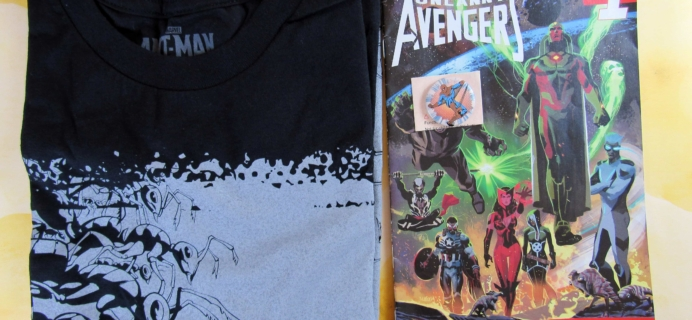 TeeBlox February 2017 Subscription Box Review & Coupon – Marvel T-Shirt