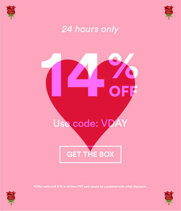 Beautycon Box Valentine's Day Coupon: 14% Off!