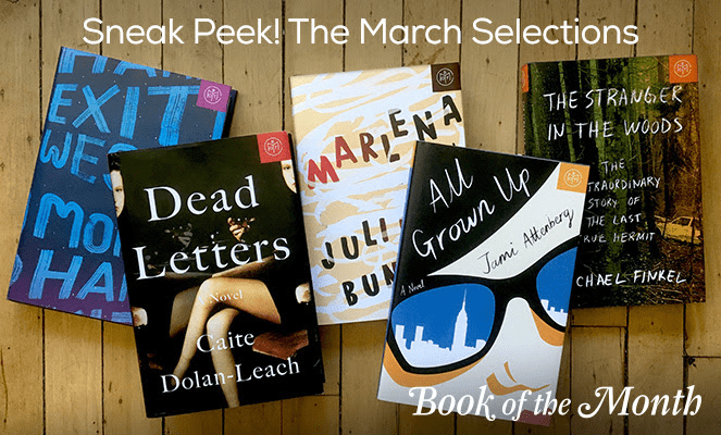March 2017 Book of the Month Selection Time + First Book $5