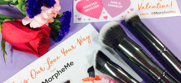 MorpheMe Brush Club February 2017 Subscription Box Review + Free Brush Coupon!