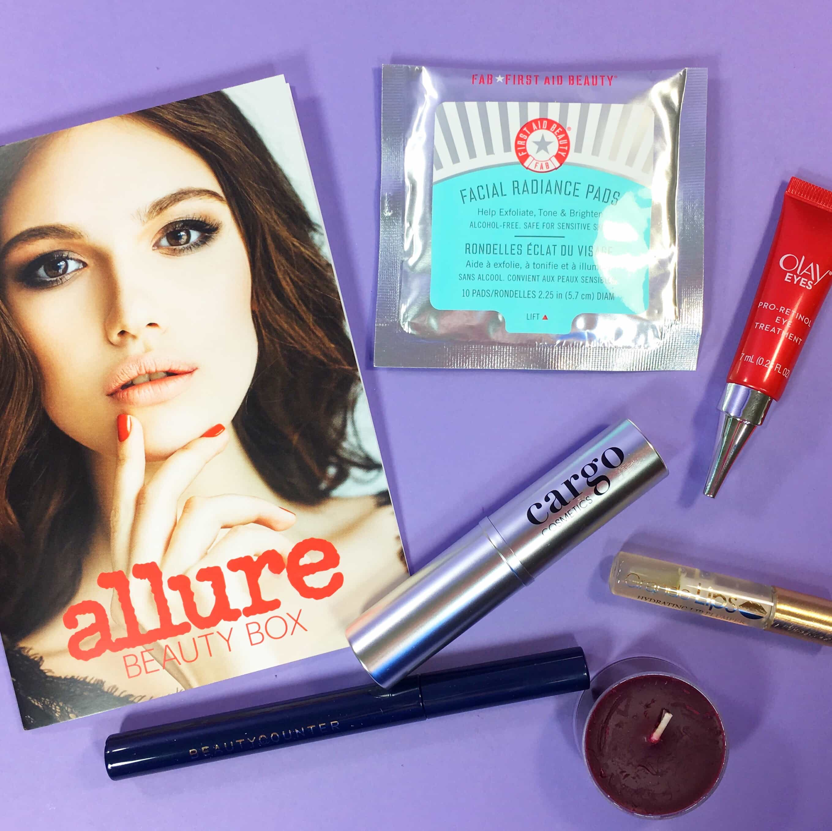 Allure Beauty Box February 2017 Subscription Box Review & Coupon